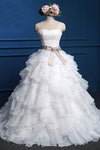 Affordable Popular Chiffon Sweetheart Top Cute Lace Wedding Dresses - Ombreprom