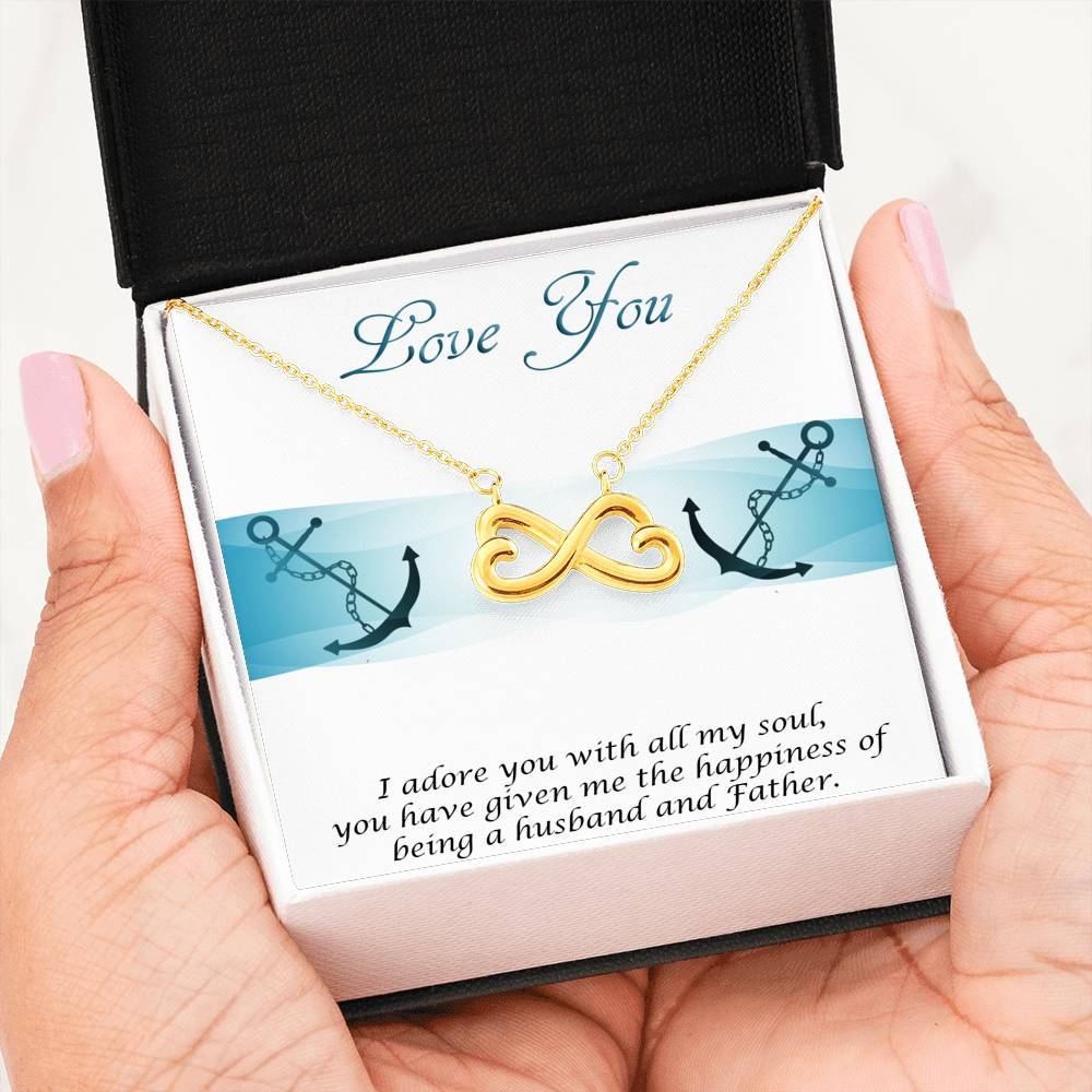 From Husband To Wife (Mother To His Child) - Infinity Heart Necklace