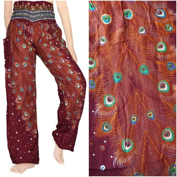PEACOCK Design (Boho,Hippie,Yoga) Pants