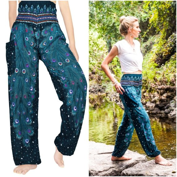 PEACOCK Boho,Hippie,Yoga Pants