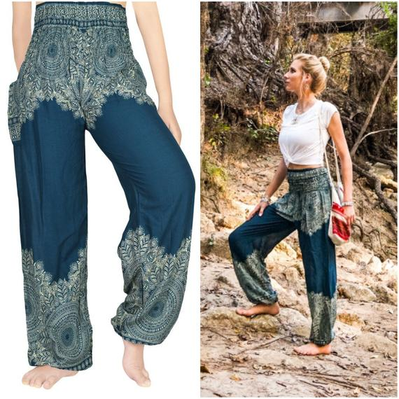FLORAL Design (Boho,Hippie,Yoga) Pants