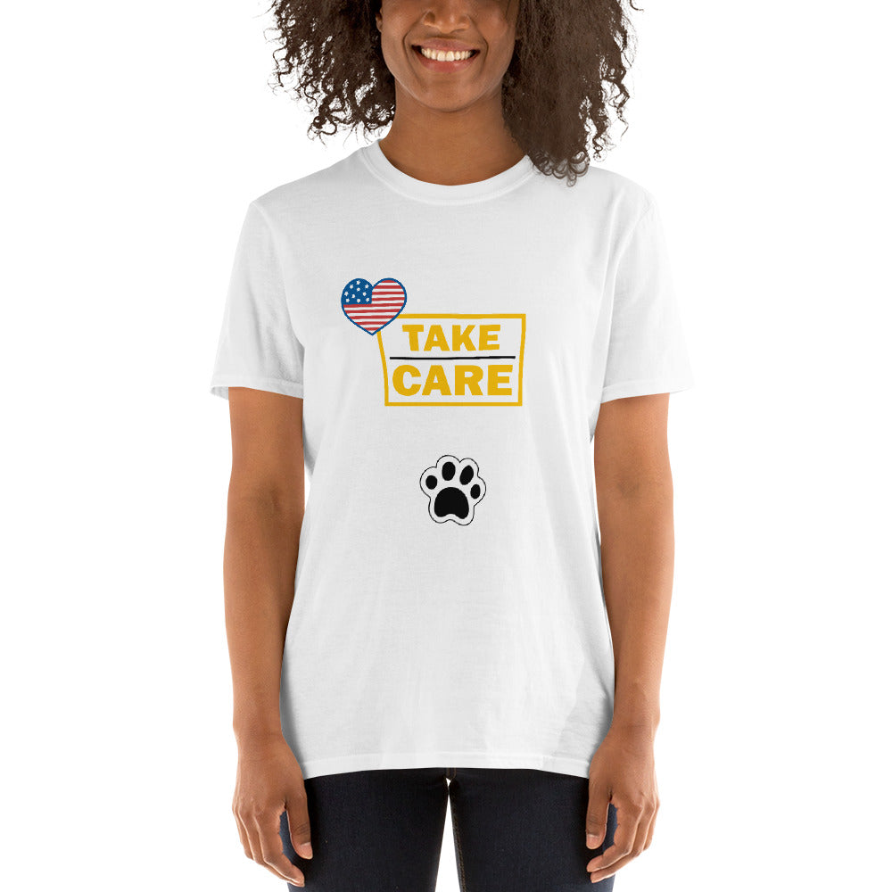 Take Care USA - Dog Paw (SHORT-SLEEVE UNISEX T-SHIRT)