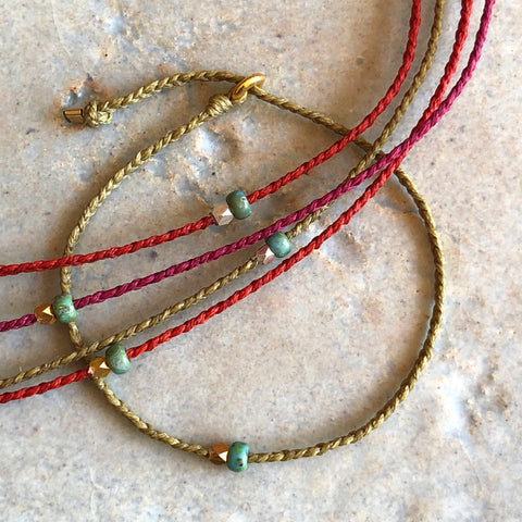 2 Bead Braided Bracelet - Athena+Co - Jewellery - Jewelry - Beaded - Necklace - Bracelet - Fashion