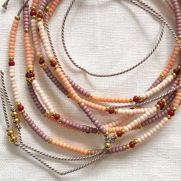 Dusty Pinks Necklace - Athena+Co - Jewellery - Jewelry - Beaded - Necklace - Bracelet - Fashion