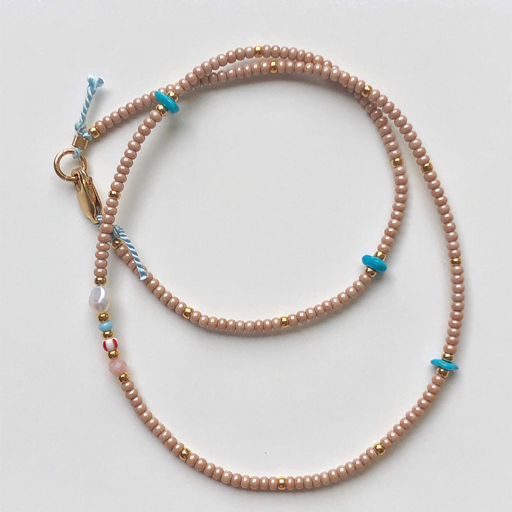 The Sands Turquoise Bead Choker / Necklace - Athena+Co - Jewellery - Jewelry - Beaded - Necklace - Bracelet - Fashion