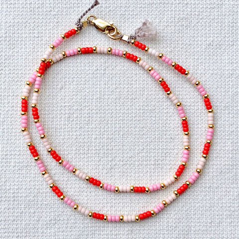 Strawberry Fields Fine Bead Choker / Necklace - Athena+Co - Jewellery - Jewelry - Beaded - Necklace - Bracelet - Fashion