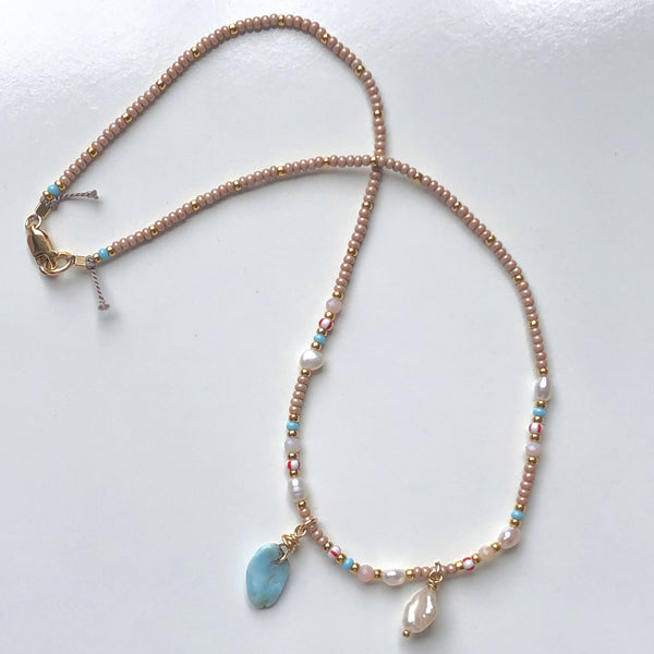 The Sands Charm Bead Choker / Necklace - Athena+Co - Jewellery - Jewelry - Beaded - Necklace - Bracelet - Fashion