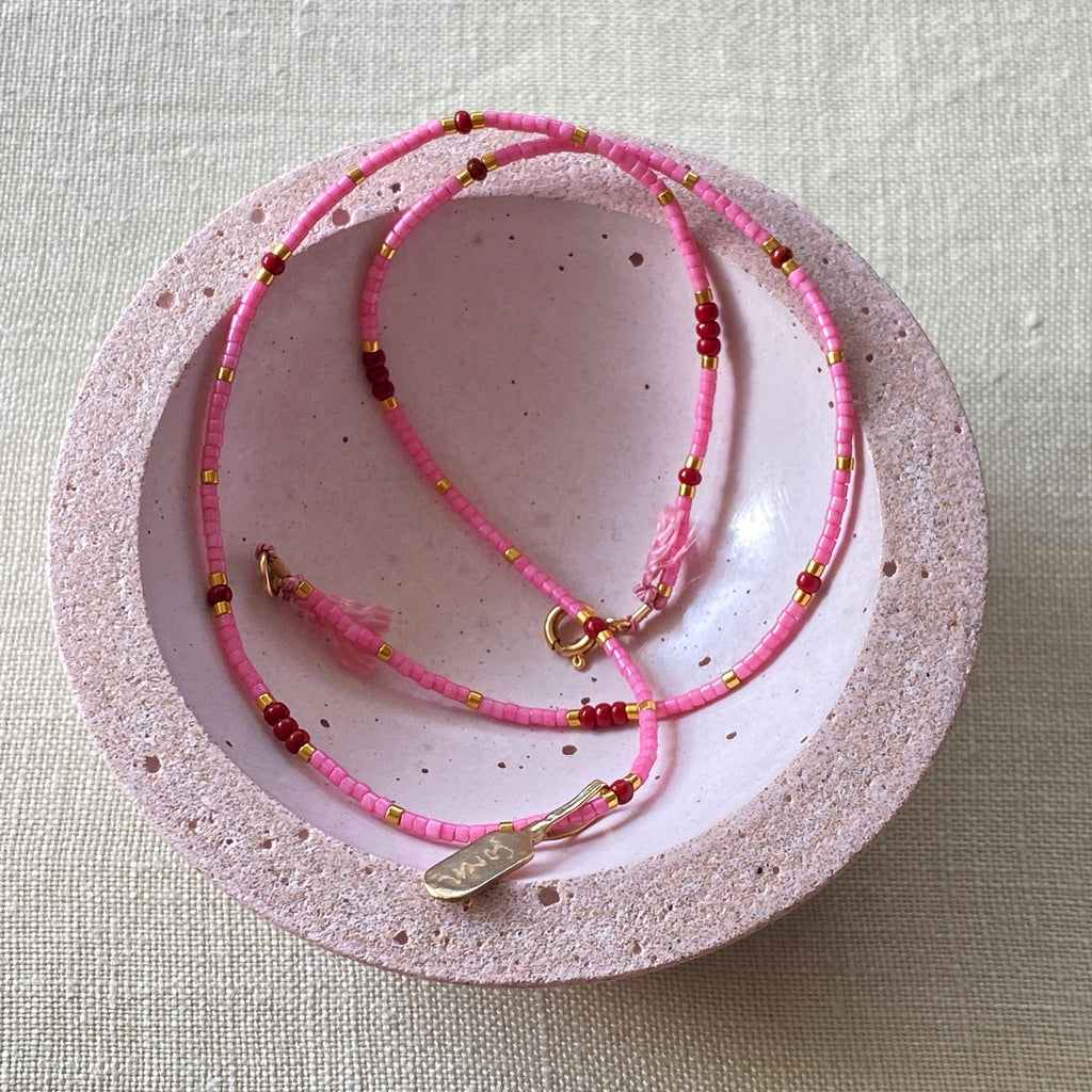 Été Rose Fine Bead Necklace