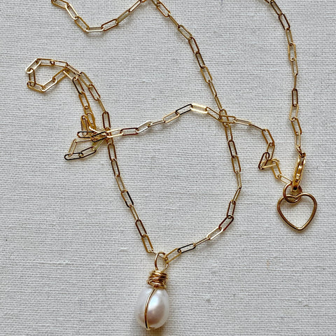 Fine Long Link Gold Necklace