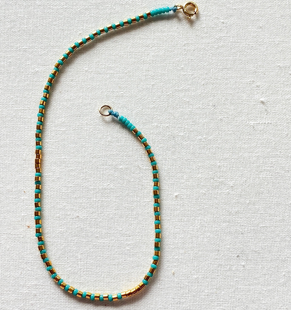 Fine Gold & Colour Bead Anklets - Athena+Co - Jewellery - Jewelry - Beaded - Necklace - Bracelet - Fashion