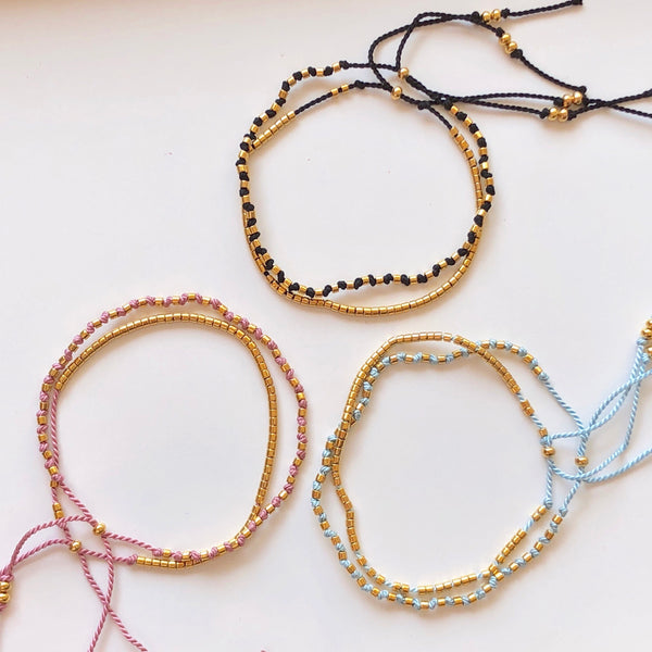 Dash Gold & Knots Bead Bracelets - Athena+Co - Jewellery - Jewelry - Beaded - Necklace - Bracelet - Fashion