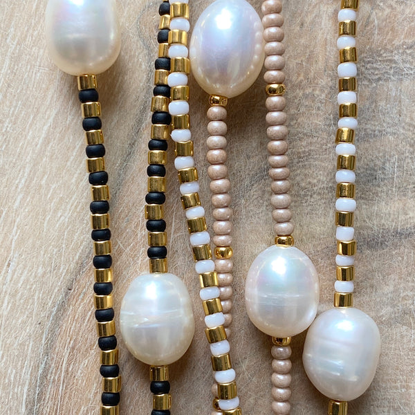 Pearly Dot Fine Bead Necklace - Athena+Co - Jewellery - Jewelry - Beaded - Necklace - Bracelet - Fashion