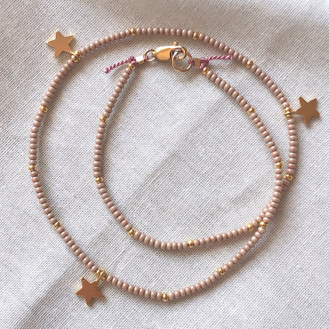 The Sands 3 Stars Fine Bead Choker / Necklace - Athena+Co - Jewellery - Jewelry - Beaded - Necklace - Bracelet - Fashion
