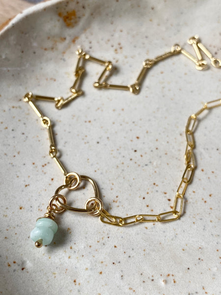 Fine Gold Hearts Connect Charm Necklace - Athena+Co - Jewellery - Jewelry - Beaded - Necklace - Bracelet - Fashion