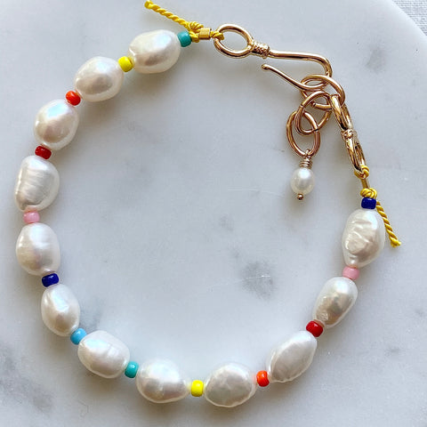 Pearl Colour Burst Bracelet - Athena+Co - Jewellery - Jewelry - Beaded - Necklace - Bracelet - Fashion