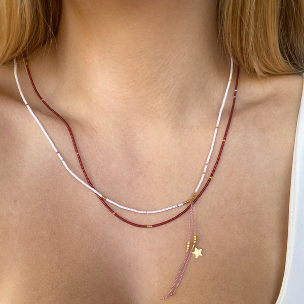 Micro Threads Long Necklace - Athena+Co - Jewellery - Jewelry - Beaded - Necklace - Bracelet - Fashion