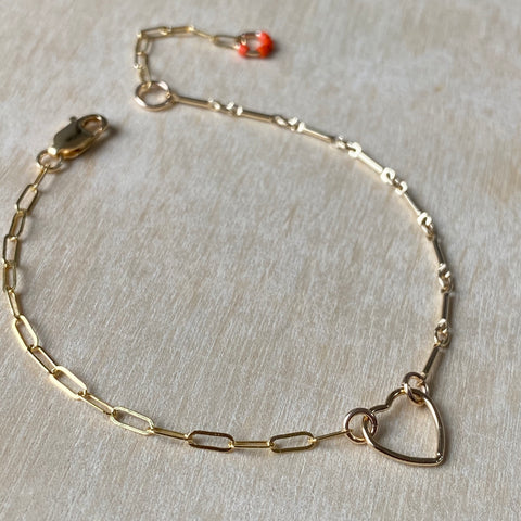 Fine Gold Hearts Connect Bracelet or Anklet - Athena+Co - Jewellery - Jewelry - Beaded - Necklace - Bracelet - Fashion