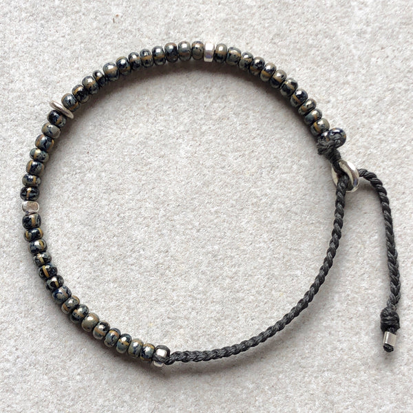 Men's Skull Bead Braided Bracelet - Athena+Co - Jewellery - Jewelry - Beaded - Necklace - Bracelet - Fashion