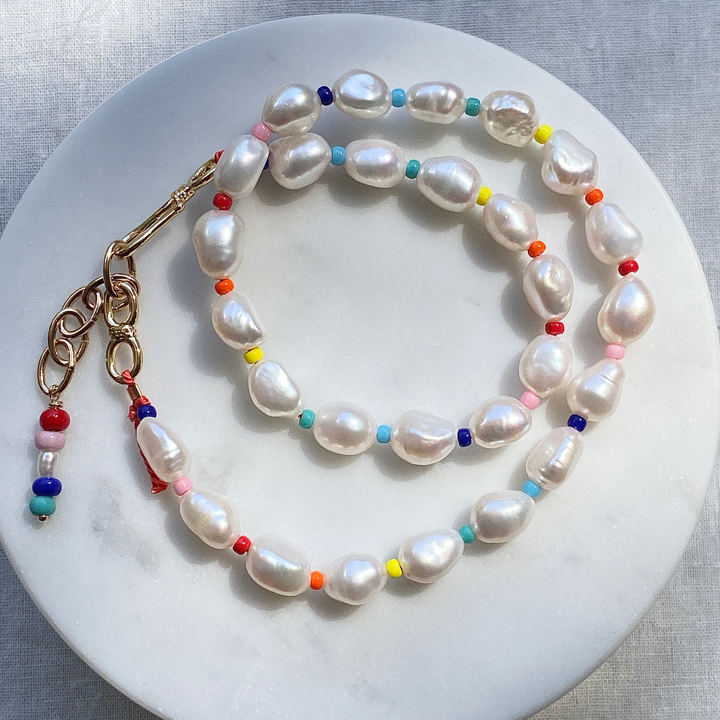 Pearl Colour Burst Necklace / Choker - Athena+Co - Jewellery - Jewelry - Beaded - Necklace - Bracelet - Fashion