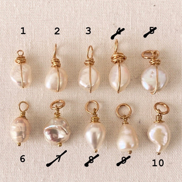 Petite Freshwater Pearl Pendents - Athena+Co - Jewellery - Jewelry - Beaded - Necklace - Bracelet - Fashion