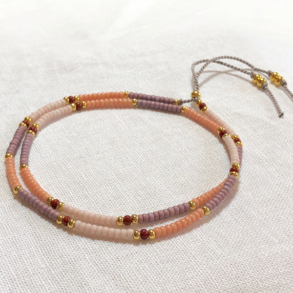Dusty Delicate Wrap Fine Bead Bracelet - Athena+Co - Jewellery - Jewelry - Beaded - Necklace - Bracelet - Fashion