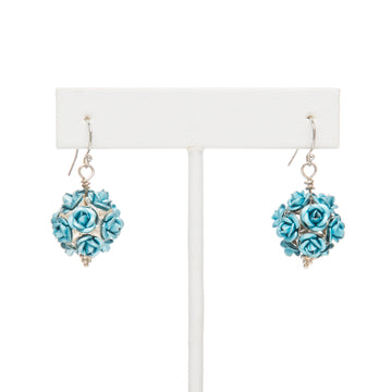 Turquoise Feeling Rosy Earrings