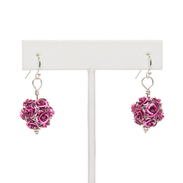 Feeling Rosy Fushia Dangling Earring
