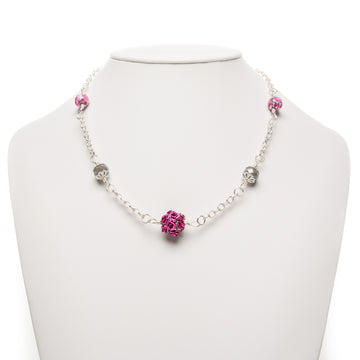 Fuchsia Howlite Rosy Necklace