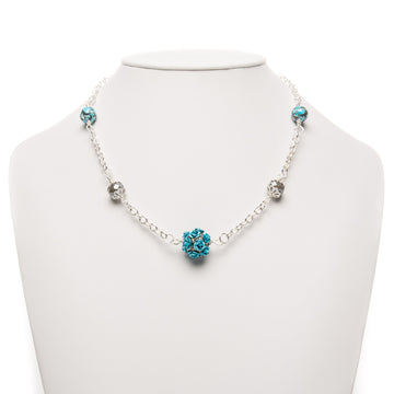 Turquoise Howlite Rosy necklace