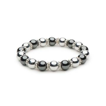 Hematite and Silver Stretch Bracelet