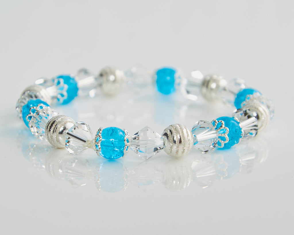 Icey Blue Stretch Bracelet