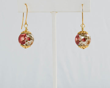 Lacey Japanese Tensha Bead Earrings