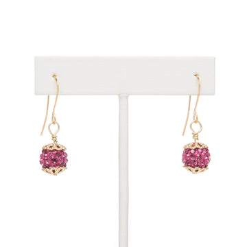 Sparkling Raspberries Earrings