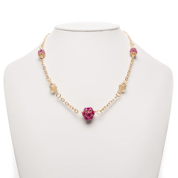 Sparkling Raspberries Necklace