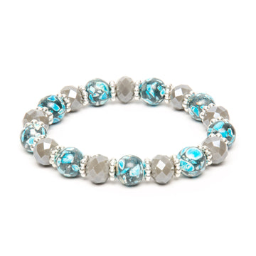 Blue Howlite Stretch Bracelet