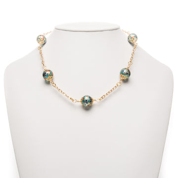 Water Lilies Tensha Beads Necklace
