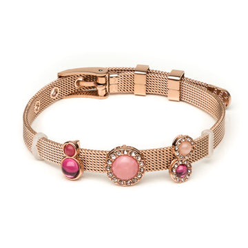 Rose Gold Stone Slider Bracelet