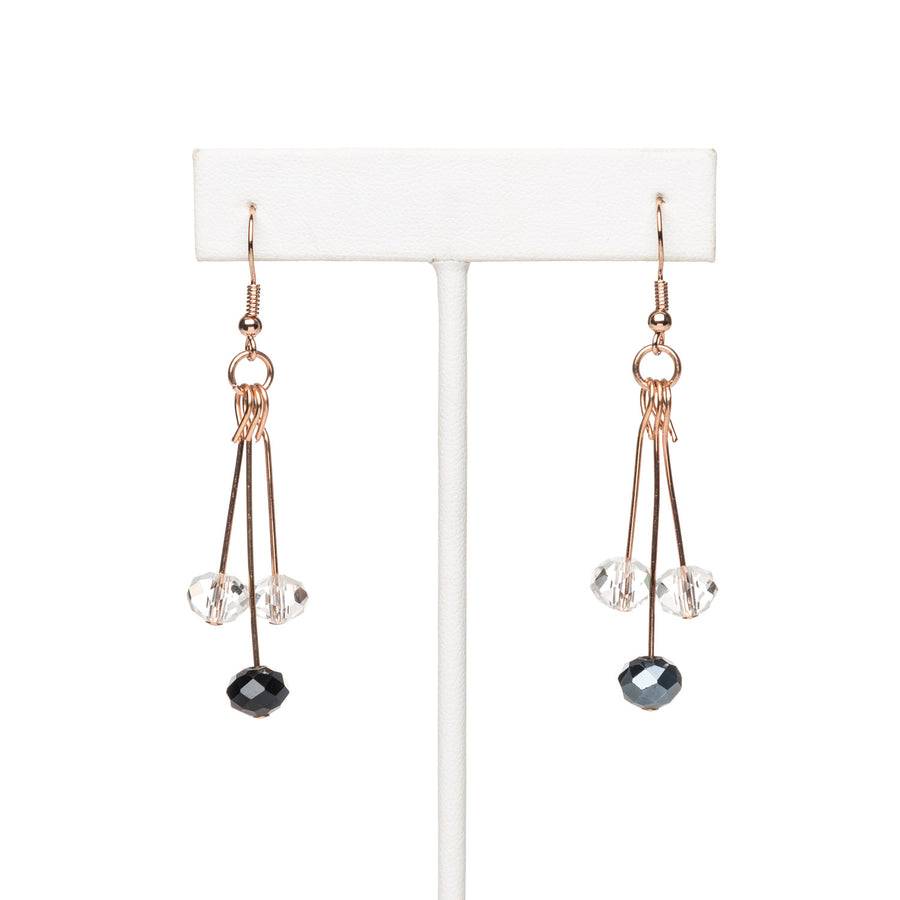 Rose Gold Cherry Dangling Earring