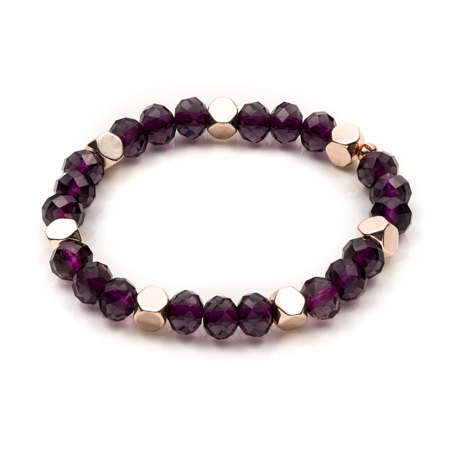 Purple Rhondelle Stretch Bracelet