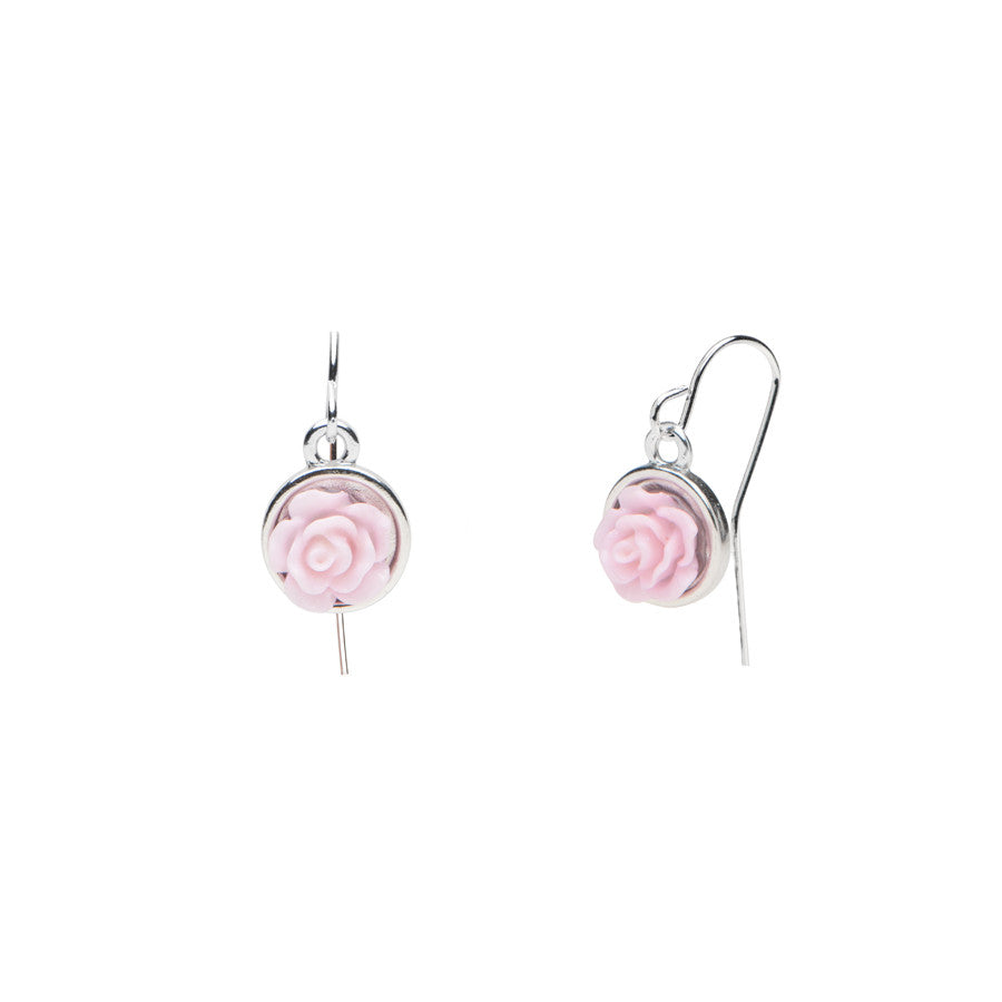 Flower Garden - Rose Earrings - Mauve