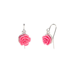 Flower Garden - Rose Earrings - Pink
