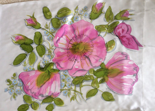 Pink Rose Pillowcase