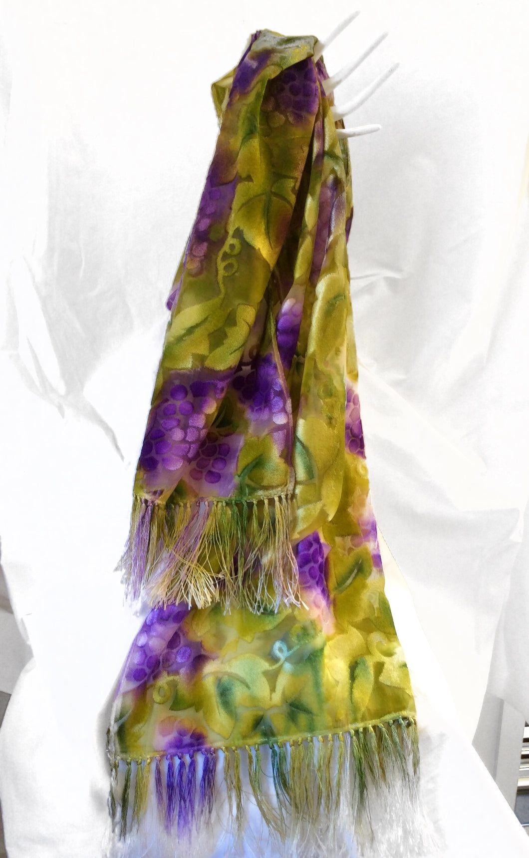 Grape Silk Velvet Scarf (Susy Collection)