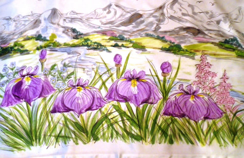 Iris and Mountain Pillowcase