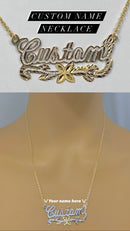 Custom name necklace women's ( 14k real gold ) we will contact you when order is placed for name !!