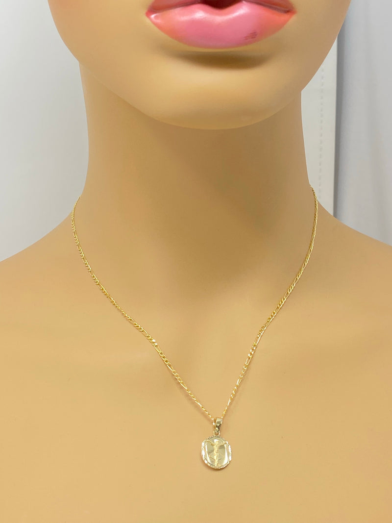 14k real gold Jesus small pendant or chain set! Women's