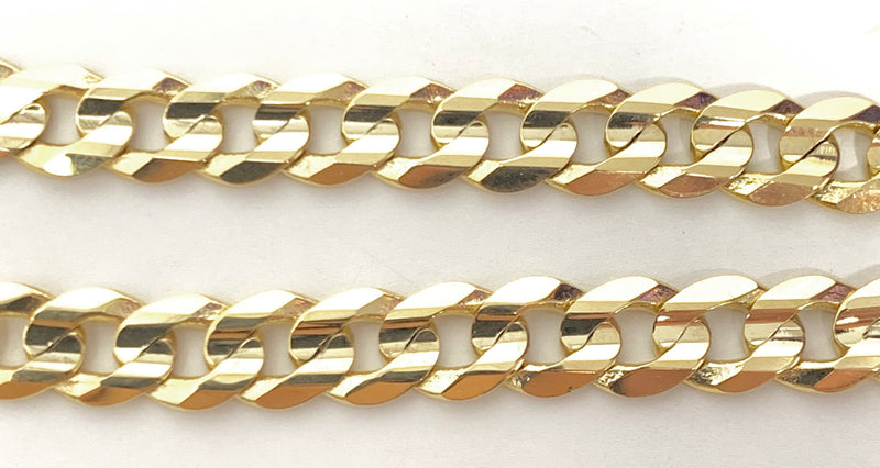 14k real gold! Cuban Bracelet 13.4 grams 8 inch