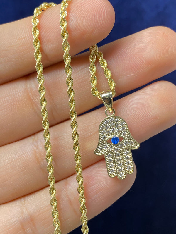 14k real gold Hamsa pendant or chain set! Women's ( 14k real gold ! )