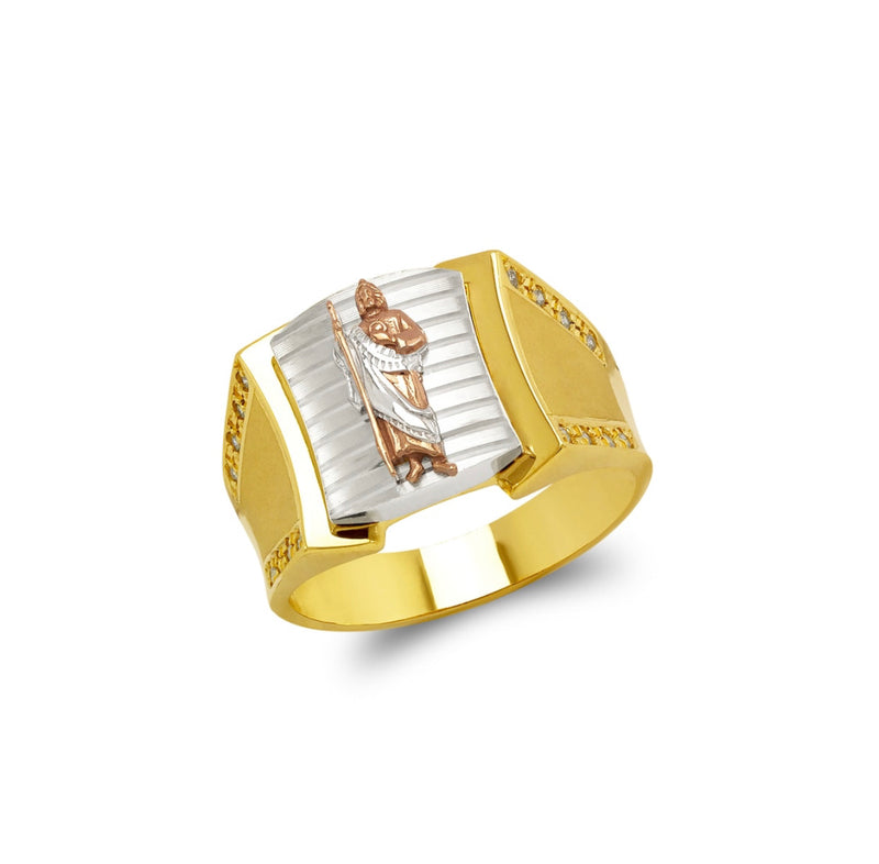 San Judas ring , 14k real gold ring ( custom made )
