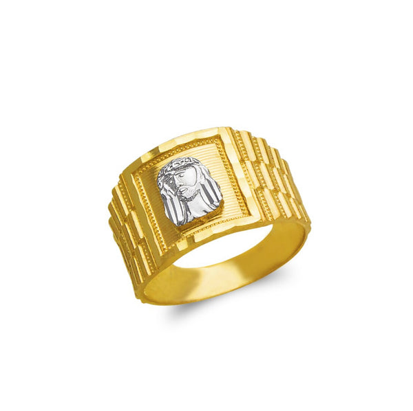 Jesus ring , 14k real gold ring ( custom made )